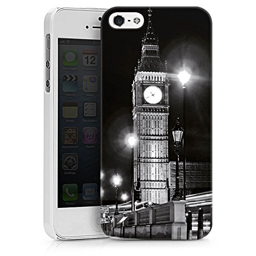 Apple iPhone X Silikon Hülle Case Schutzhülle Big Ben London England Hard Case weiß
