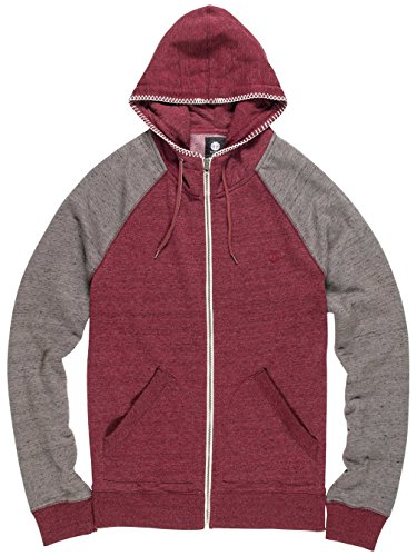 Element Meridian Zip Hoodie Napa Red
