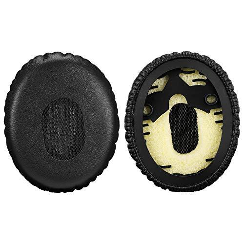 Bingle padiglioni auricolari per cuffie BOSE On-Ear/OE1QC3OE–Sostituzione cuscinetti auricolari in memory foam cuscino imbottito per Bose QUIETCOMFORT3(1PAIR nero)