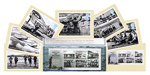 Set regalo di 2015 Battle of Britain M %2FS timbri in confezione di presentazione, e PHQ Cards Royal Mail The Postcard Store-Confezione da 7)