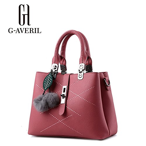 G-AVERIL, Borsa a mano donna Nero Black Rubber Red