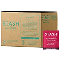 Stash Tea Pomegranate Raspberry Green Tea, 100 Count Box of Tea Bags in Foil
