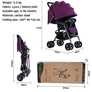 ZHAOHUIFANG Kinderwagen, Kann Sitzen Und Schieben Sie Den Leichten Faltbaren Stoßdämpfer Ultra Leichten Kinderwagen