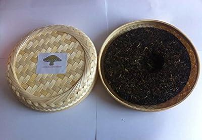 Thé noir Pu erh, emballage de boîte en bambou fermenté de qualité supérieure de 357 grammes