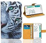 FoneExpert Sony Xperia E5 Coque, Etui Housse Coque en Cuir Portefeuille Wallet Case Cover pour Sony Xperia E5