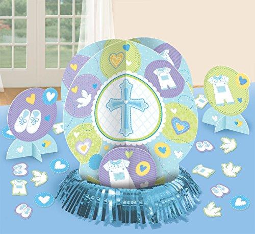 Amscan Blaues Tischdekorationsset zur Taufe