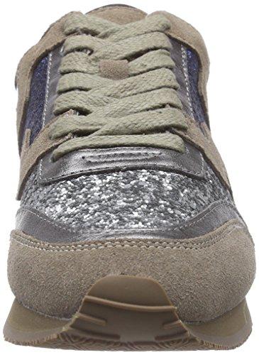 Liebeskind Berlin LS0042 material mix, Low-Top Sneaker donna Grigio (Grau (grey 0002))