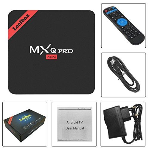 Leelbox MXQ PRO mini Android tv Box eingebaut mit NEUSTem S905x Chipsatz/Quad Core Prozesser/Kodi 16.1/Android 6.0/2.4G Wi-Fi/1GB Ram+8GB Flash unterstützt HDMI 2.0 beide 4Kx2K und 3D Effekt updaten von mxq pro Streaming-Clients - 9