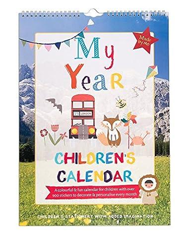 My Year Children's Calendar. Agenda-calendrier coloré à vue mensuelle pour activité amusante de chez Organised Mum, pour les enfants en âge d'aller à l'école primaire. Plus de 900 vignettes sont incluses, ainsi que des mots et illustrations afin de personnaliser les mises en page. Cadeau idéal pour enfant (en langue anglaise)