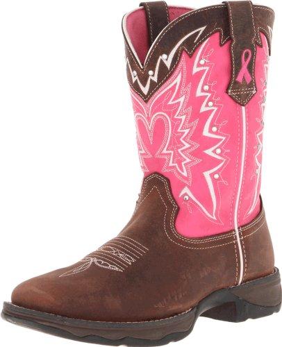 Durango Boots , Bottes Rangers femme Multicolore - Dark Brown Pink