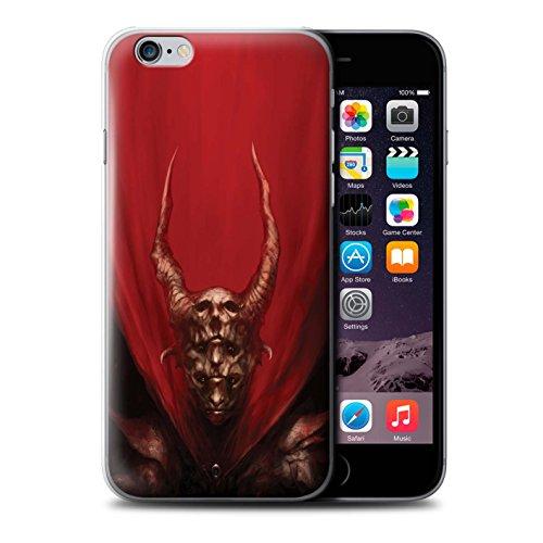 Offiziell Chris Cold Hülle / Case für Apple iPhone 6 / Pack 10pcs Muster / Dunkle Kunst Dämon Kollektion Rot Herzog