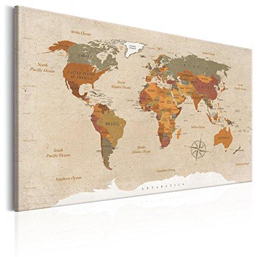 Murando   Cuadro Lienzo 120x80 cm   Poster Mapa Mundo