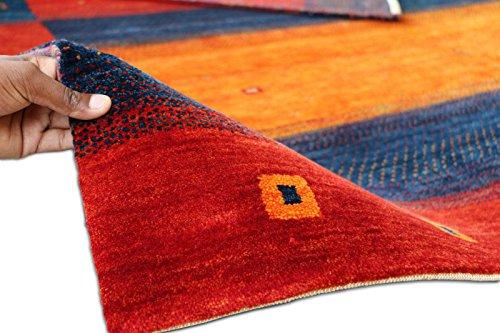 Persian Designs Exklusive Bereich Gabbeh Oriental Joppe handgeknotet Rugs & Teppich, Multi, 6'7