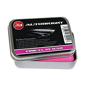 Autobright Pre Cleaning Car Wax Fine Clay Bar 100g Smooth Finish Detailing