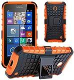 Nokia Lumia 630 / 635 Stoßfest Hülle Silikon mit Ständer