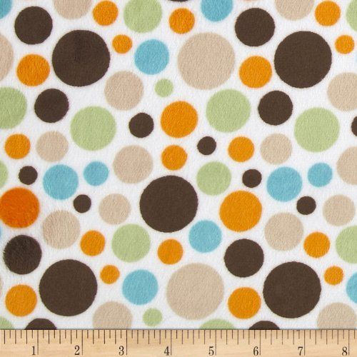 Minky Cuddle Classic Bubble Dot Brown Fabric by Shannon Fabrics