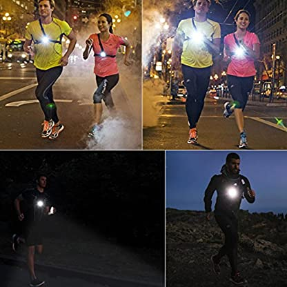 BACKTURE Chest Running Light, USB Rechargeable LED Running Night Light Waterproof Running Torch with 3 Lighting Modes for Runners, Joggers, Outdoor Sport, Walking, Fishing, Camping, Hiking, Climbing 6