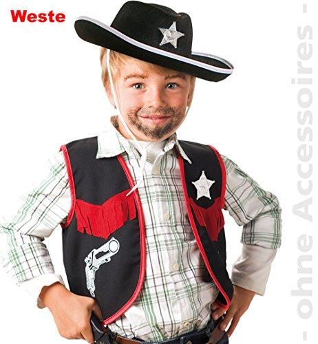 Cowboy Weste Kinder Kostüm Gr 128