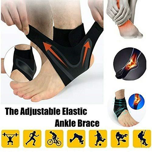 Snowing 1 Paar Walk-Hero verstellbare atmungsaktive elastische Anti-Verstauchungs-Knöchelbandage Kompressionshülse unterstützt Schutz für Sport-Basketball-Fußball (L)