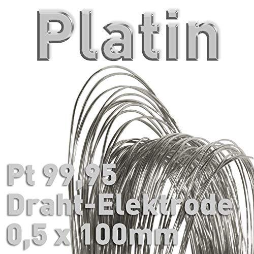 Platin Pt 99,95% Draht-Elektrode ⌀0,5 mm x 100 mm Galvanik Feinplatin Anode 10 cm Platindraht