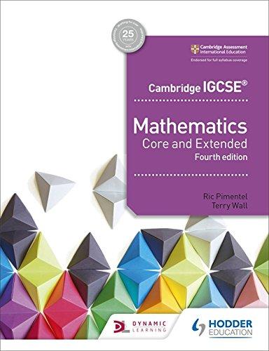 Cambridge IGCSE Mathematics Core and Extended 4th edition por Ric Pimentel