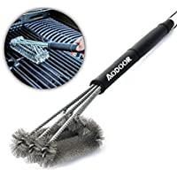 """Aodoor Brosses à barbecue 18"""" - acier inoxydable 3 brosses, avec un manche long et ergonomique, Meilleur outils de nettoyage 360°pour grille et barbecue au charbon de bois, gaz, porcelaine etc"""