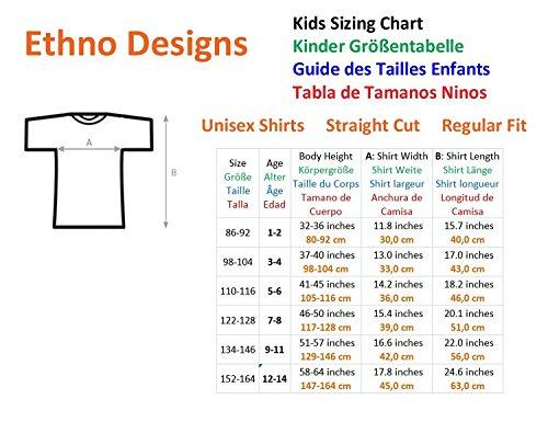 Ethno Designs White Horse Wilderness - Cheval Blanc T-Shirt pour Enfants et Adultes regular fit Noir