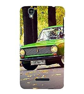 Stylish long Car 3D Hard Polycarbonate Designer Back Case Cover for YU Yureka :: YU Yureka AO5510