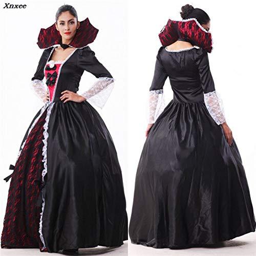 ERFD&GRF Weibliche Vampir Zombie Kostüm Halloween Ghost Bride Maskerade Party Kostüme Kleid Frauen Hexe Königin Halloween Cosplay Xnxee