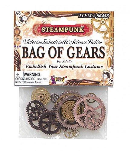 shoperama Steampunk Accessoire - 20 Zahnräder aus Metall - Industrial Kostüm-Zubehör Schmuck Verzierung