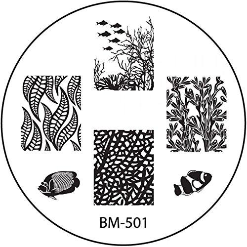 STAMPING-SCHABLONE # BM-501°° estate, Mare, arcobaleno adesivi, in vacanza, pesci, alghe, coralli °°