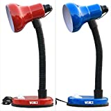 #10: Wemex Reading & Studying Combo Table Lamps ( Blue ,Red )