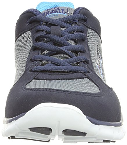 Lonsdale Lonsdale Shearwater, Sports en extérieur homme Bleu - Blue (Black/Grey/Orange)
