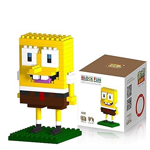 Katara - Set nanoblock pour construction de Bob l'éponge - jeu de construction, cadeau d'anniversaire ou de Noël, hauteur entre 5 et 7