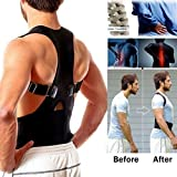 #9: SBE Adjustable Posture Corrector Back Brace, Clavicle Support strap for Spine Corset, Back Shoulder Support Strap,Wearable Under Clothes of Training Muscles Posture Corrector for Men Women (Black, XL)