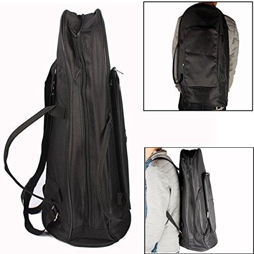 Euphonium Gig Bag Euphonium Oxford-Gewebe-Schutztasche mit Gurt, Schwarz -