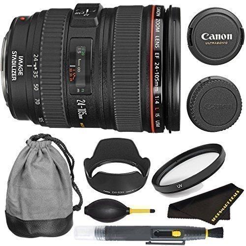 Canon EF 24–105mm f/4L IS USM Objektiv für T5i, t6i, T6s, 6D, 5D, 5DII, 5DIII, T4i, T3i, 60D, 70D, 70dii, 7D & 7DII DSLR-Kameras–International Version (ohne Garantie)