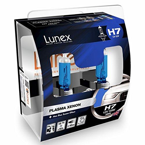 LUNEX H7 PLASMA XENON, Scheinwerfer Halogenbirnen, 12V 55W PX26d, 5000K duobox (2 units) -