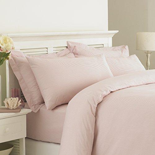 Tolles Knoten Cambridge 100% ägyptische Baumwolle 200Fadenzahl–Bettbezug-Set mit Oxford Kissen (King, pink) (Oxford Baumwolle 100%)