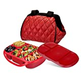 Best Smart Planet Lunch Boxes - Smart Planet Portion Perfect Puffer Bag Set, Red Review
