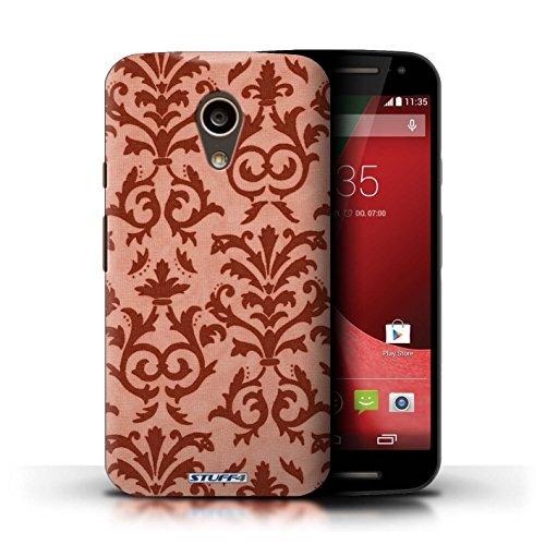 Kobalt® Imprimé Etui / Coque pour Motorola Moto G (2014) / Pourpre conception / Série Motif de défilement Rouge