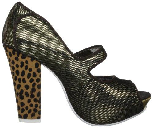 Irregular Choice Krazy Karen, Damen Fashion-Sandalen Schwarz (Black/Gold)