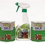 Bondex Express Teaköl 1,5L Hartholzöl Set inkl. 0,5L Hartholzreiniger