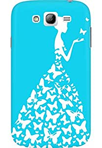 AMEZ designer printed 3d premium high quality back case cover for Samsung Galaxy Grand Neo GT (sky blue white girl princess)