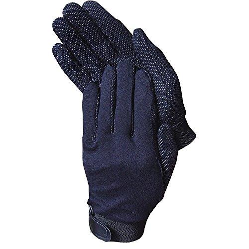netproshop Damen Reithandschuhe mit Grip Baumwolle, Farbe:schwarz, Groesse:L