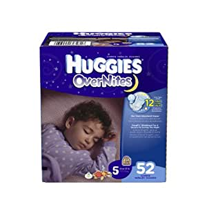 Huggies OverNites Diapers Size 5 Big Pack 52 Count