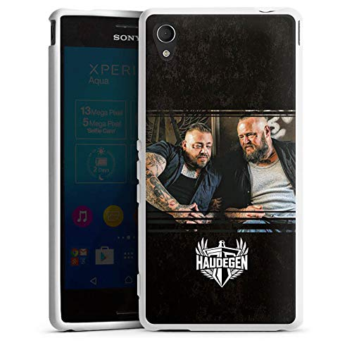 DeinDesign Silikon Hülle kompatibel mit Sony Xperia M4 Aqua Case Schutzhülle Haudegen Rock Band - Aqua-print-rock