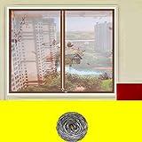 Mosquito bildschirm silent,Magnetische bildschirm tür reißverschluss full-frame velcroscreen tür heavy-duty mesh sieb-G 200x150cm(79x59inch)