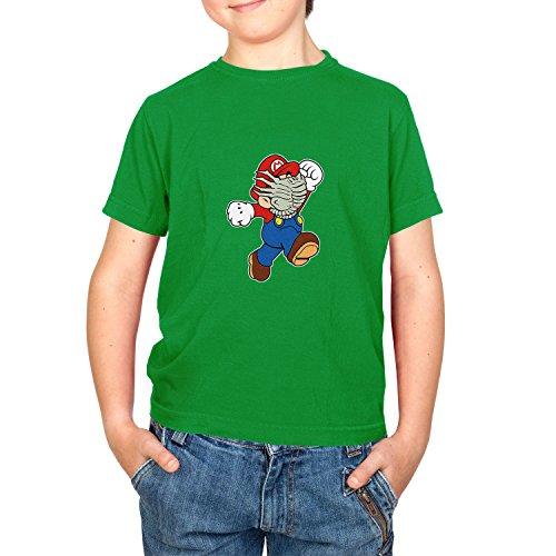 Kostüm Dead Mario - NERDO Mario Face Hug - Kinder T-Shirt, Größe L, Grün