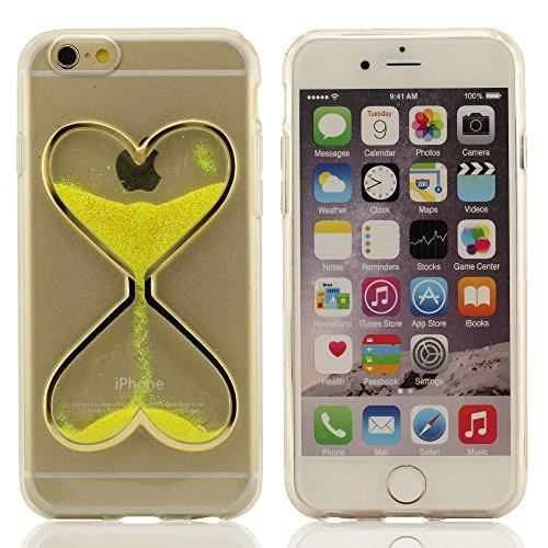 Sablier Forme Conception Cristal Clair Transparent Gel Écoulement Liquide Briller Poudre Étui de protection Coque Case pour iPhone 6S / iPhone 6 4.7 Pouce (iPhone 6 Plus 5.5
